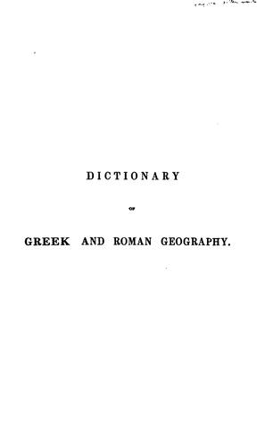 Download Dictionary of Greek and Roman geography.