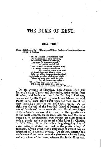 Download The life of F. M., H. R. H. Edward, Duke of Kent