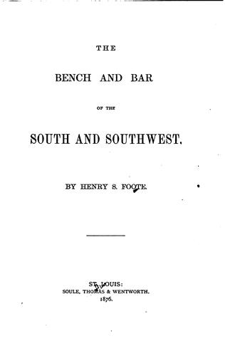 Download The bench and bar of the South and Southwest