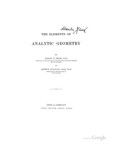 Download The elements of analytic geometry