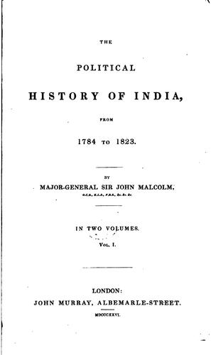 The political history of India, from 1784 to 1823.