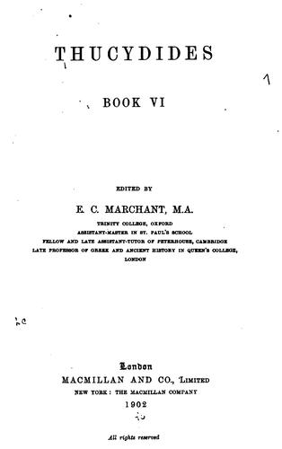 Download Thucydides, book VI.