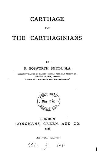 Carthage and the Carthaginians.