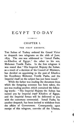 Egypt to-day