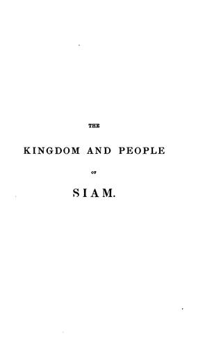 The kingdom and people of Siam