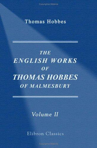 Download The English Works of Thomas Hobbes of Malmesbury