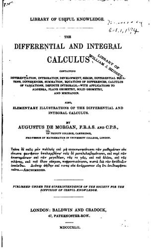 Download The differential and integral calculus