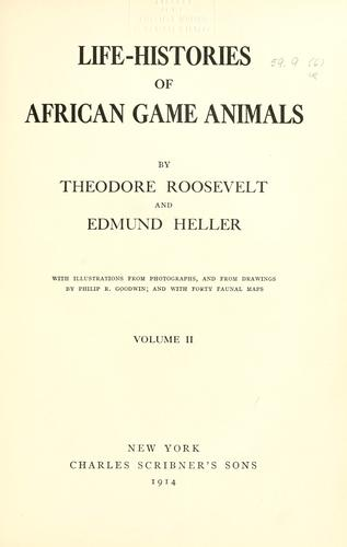 Download Life-histories of African game animals