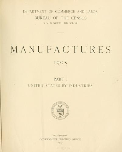 Download Manufactures, 1905.