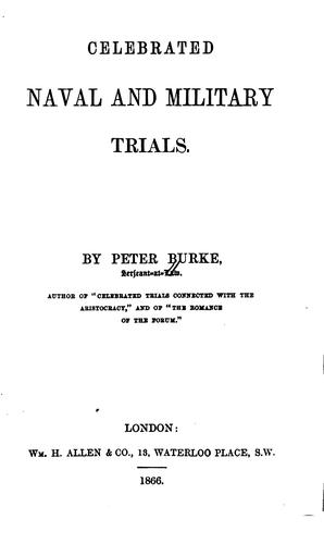 Download Celebrated naval and military trials