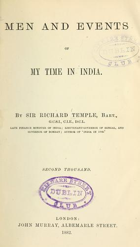 Download Men and events of my time in India.