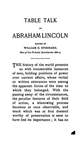 The table talk of Abraham Lincoln