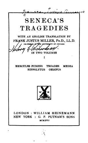 Senecas̕ Tragedies