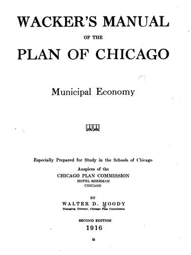 Download Wacker's manual of the plan of Chicago