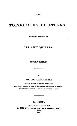 Download The topography of Athens.