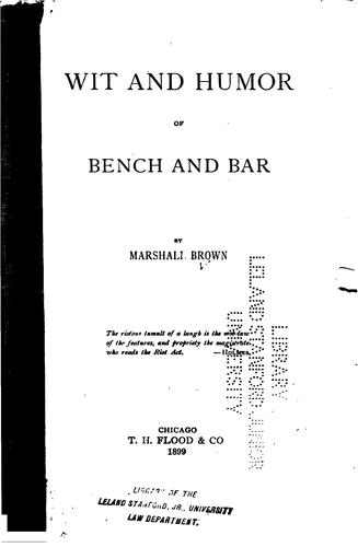 Download Wit and humor of bench and bar