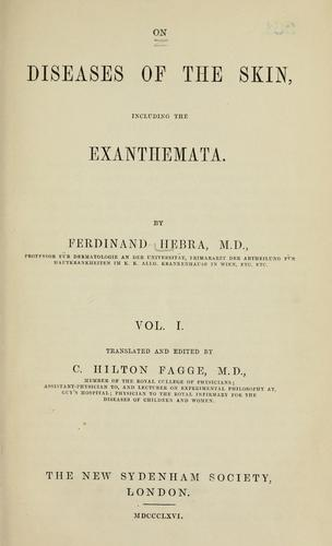 On diseases of the skin, including the exanthemata