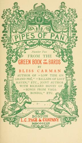 From the green book of the bards