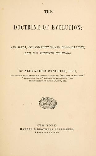 The doctrine of evolution