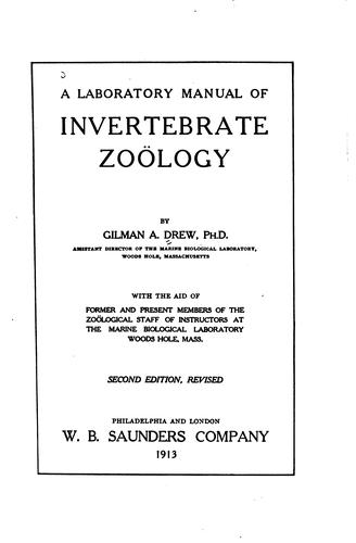 Download A laboratory manual of invertebrate zoölogy