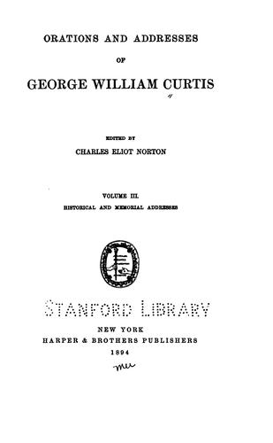 Download Orations and addresses of George William Curtis.