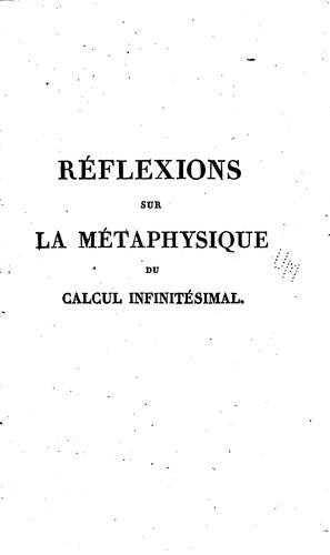 Download Réflexions sur la métaphysique du calcul infinitésimal