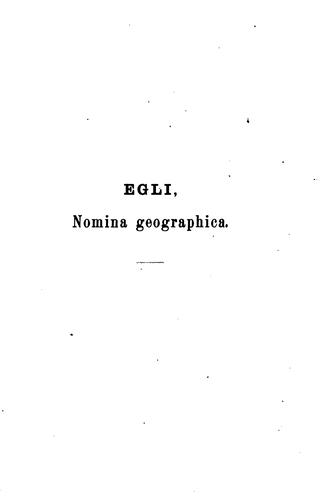 Download Nomina geographica