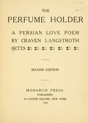 The perfume holder