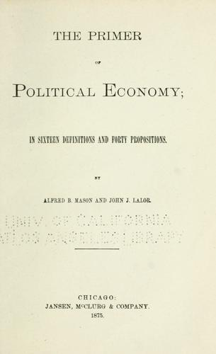 The primer of political economy