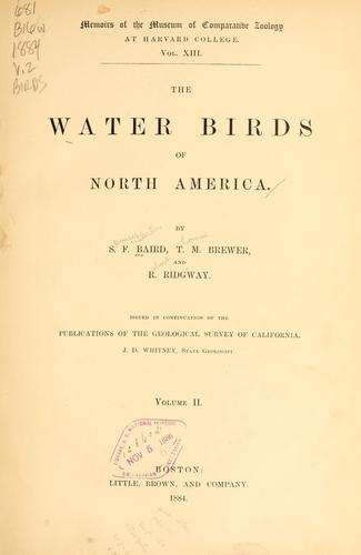 Download The water birds of North America