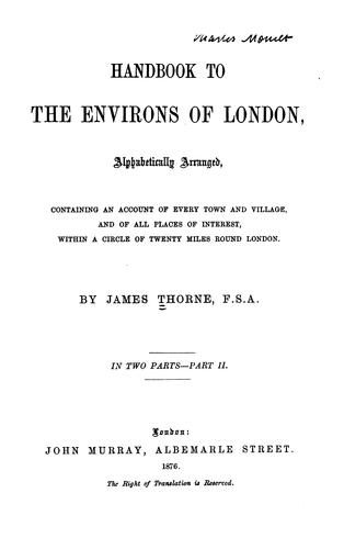 Download Handbook to the environs of London