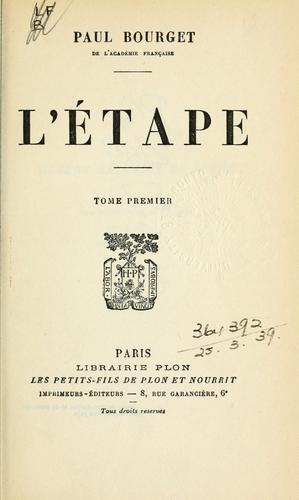 Download L' étape.