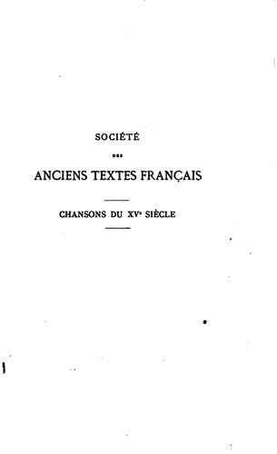 Download Chansons du XVe siècle