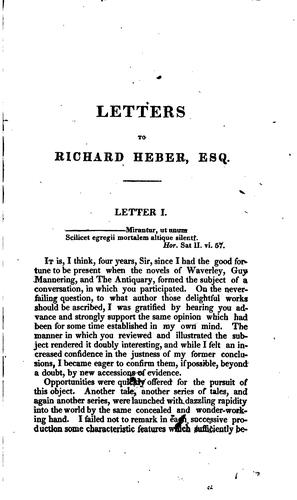 Download Letters to Richard Heber, esq.