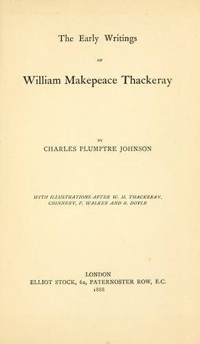 Download The early writings of William Makepeace Thackeray