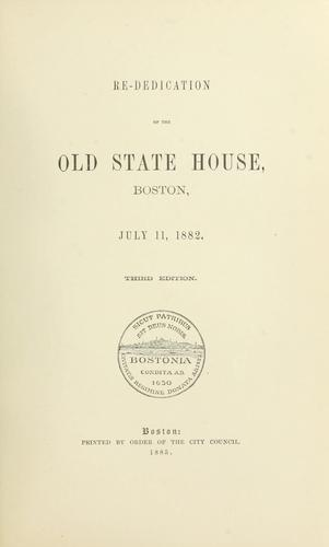 Re-dedication of the Old state house