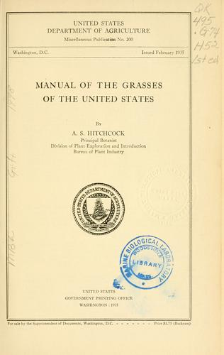 Download Manual of the grasses of the United States.