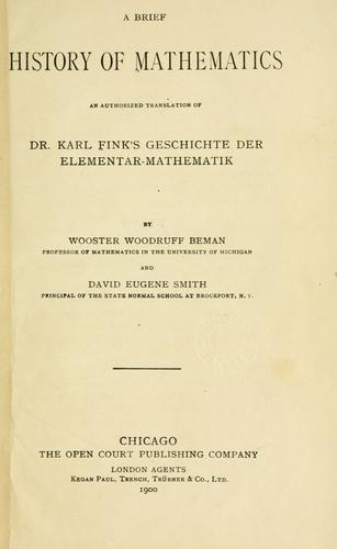 Download A brief history of mathematics