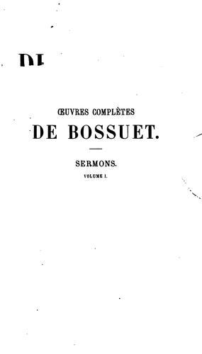 Oeuvres complètes de Bossuet …