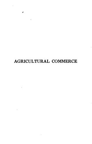 Agricultural commerce