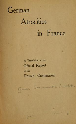 Download German atrocities in France