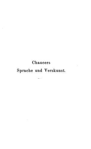 Chaucers Sprache und Verskunst