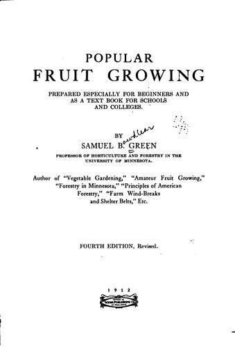 Popular fruit growing