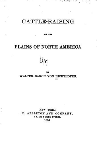 Download Cattle-raising on the plains of North America