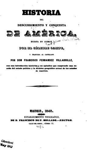 Download Historia del descubrimiento y conquista de América