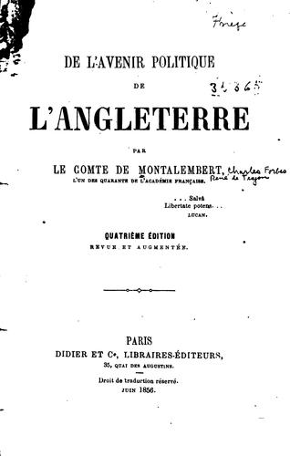 Download De l'avenir politique de l'Angleterre