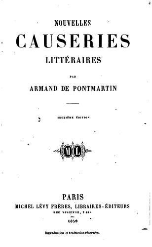 Download Nouvelles causeries littéraires