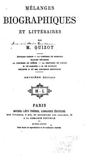 Download Mélanges biographiques et littéraires