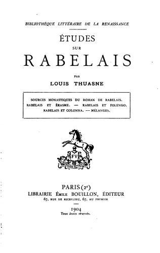 Études sur Rabelais