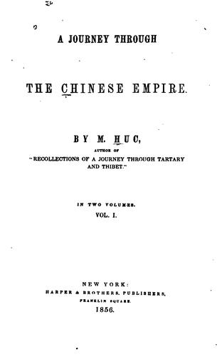 A journey through the Chinese empire.